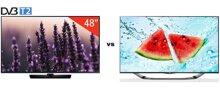 So sánh Tivi LED Samsung UA48H5510 và Smart Tivi LED 3D LG 42LA6910
