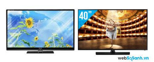 So sánh Tivi LED Samsung UA40H5003AKXXV và Smart TV Sharp LC-40LE835M