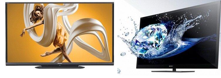 So sánh Tivi LED  Sharp LC-60LE650D2 và Sony KDL40EX720