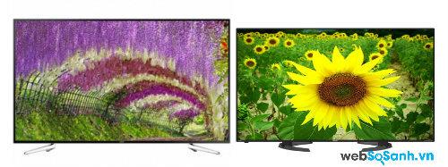 So sánh Tivi LED Sharp LC-70LE360X và Smart TV Samsung UA75H6400AKXXV