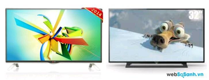 So sánh Tivi LED SONY KDL-32R300B  và  LG 32LB552A