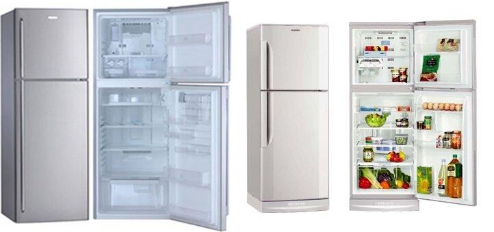 So sánh tủ lạnh Electrolux ETB2600PC và Hitachi RZ190SVX