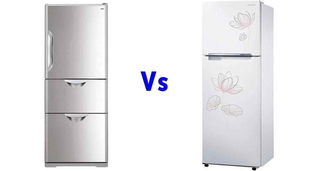 So sánh tủ lạnh Hitachi R-S37SVG và Samsung RT32FARCDP1