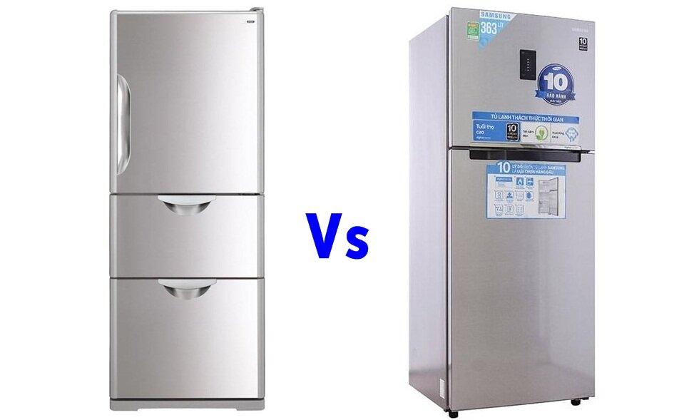 So sánh tủ lạnh Hitachi R-S37SVG và Samsung RT35FDACDSA/SV