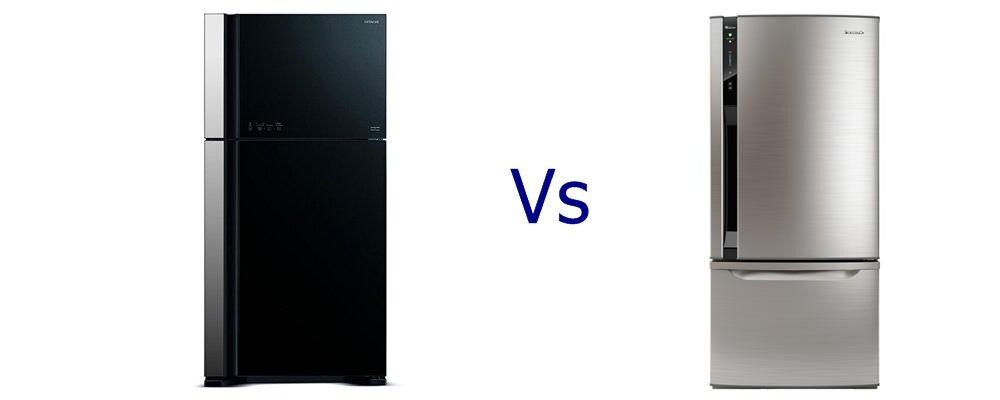 So sánh tủ lạnh Hitachi R-VG610PGV3 và Panasonic NRBY551V
