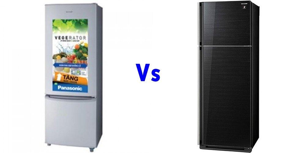 So sánh tủ lạnh Panasonic NR-BU343LH và Sharp SJ-P405G-BK/SL