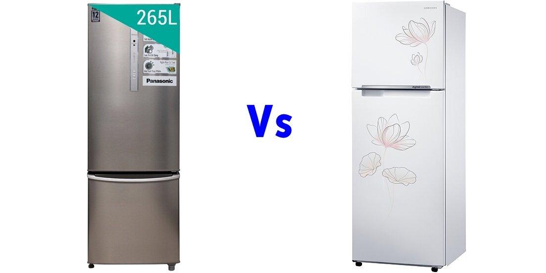 So sánh tủ lạnh Panasonic NR-BR307ZSVN và Samsung RT32FARCDP1
