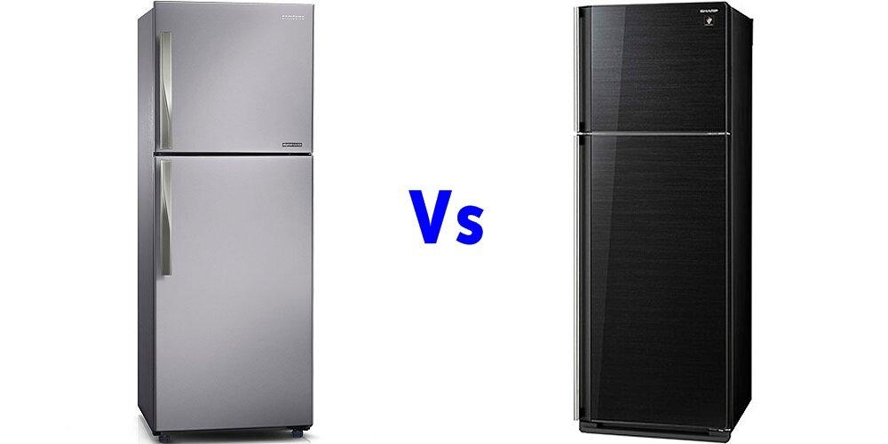 So sánh tủ lạnh Samsung RT-29FAJBDSA và Sharp SJ-P405G-BK/SL