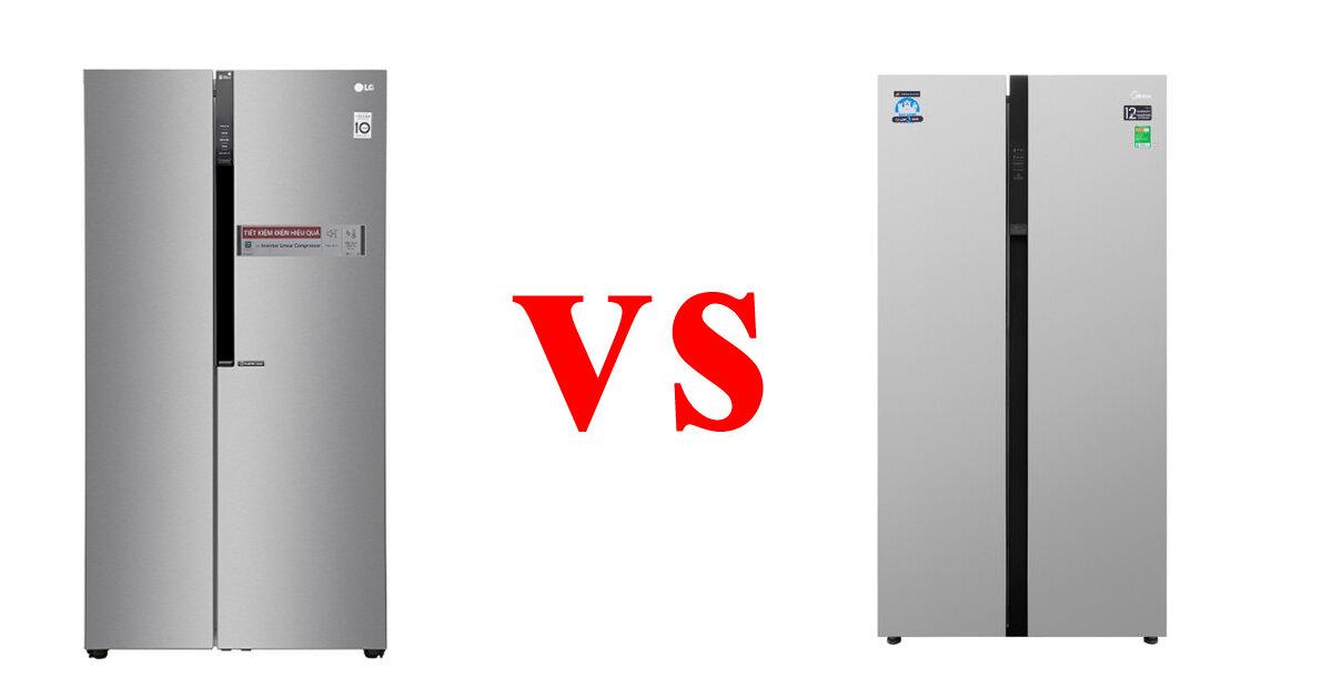 So sánh tủ lạnh Side by side LG và Midea trong phân khúc giá 15 triệu vnđ – tủ lạnh nào đáng mua hơn ?