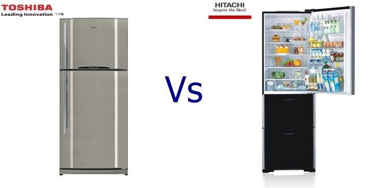 So sánh tủ lạnh Toshiba GR-R58FVUA(TS) và Hitachi R-SG37BPG