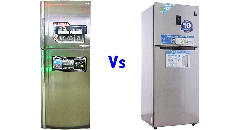 So sánh tủ lạnh Toshiba GR-R32FVUD và Samsung RT35FDACDSA/SV