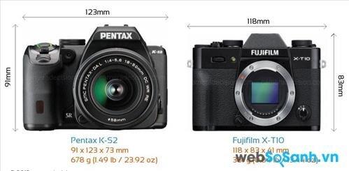 So sánh ưu – nhược điểm của máy ảnh Pentax K-S2 và Fujifilm X-T10