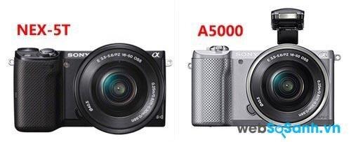 So sánh ưu – nhược điểm của máy ảnh Sony NEX-5T và Sony A5000