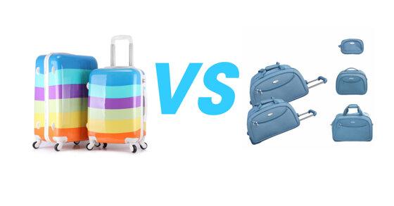 So sánh Vali kéo: Đi du lịch nên chọn vali kéo nhựa hay vali kéo vải ?