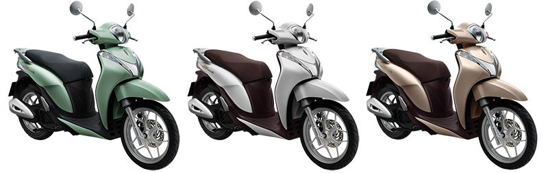 So sánh xe máy Honda Vision và Honda SH Mode