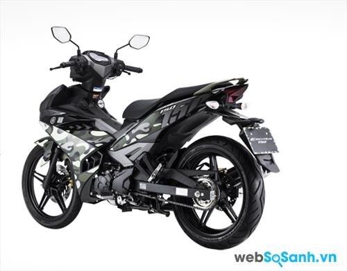 So sánh xe máy Yamaha Exciter CAMO với phiên bản Exciter cũ