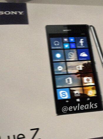 Sony có thể ra điện thoại Windows Phone mang tên Lue Z