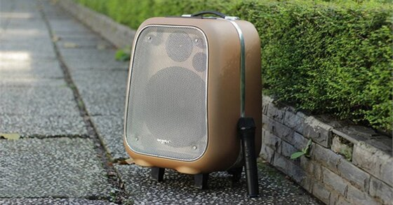 Soundmax M-6: Loa kéo di động mà cứ tưởng vali du lịch