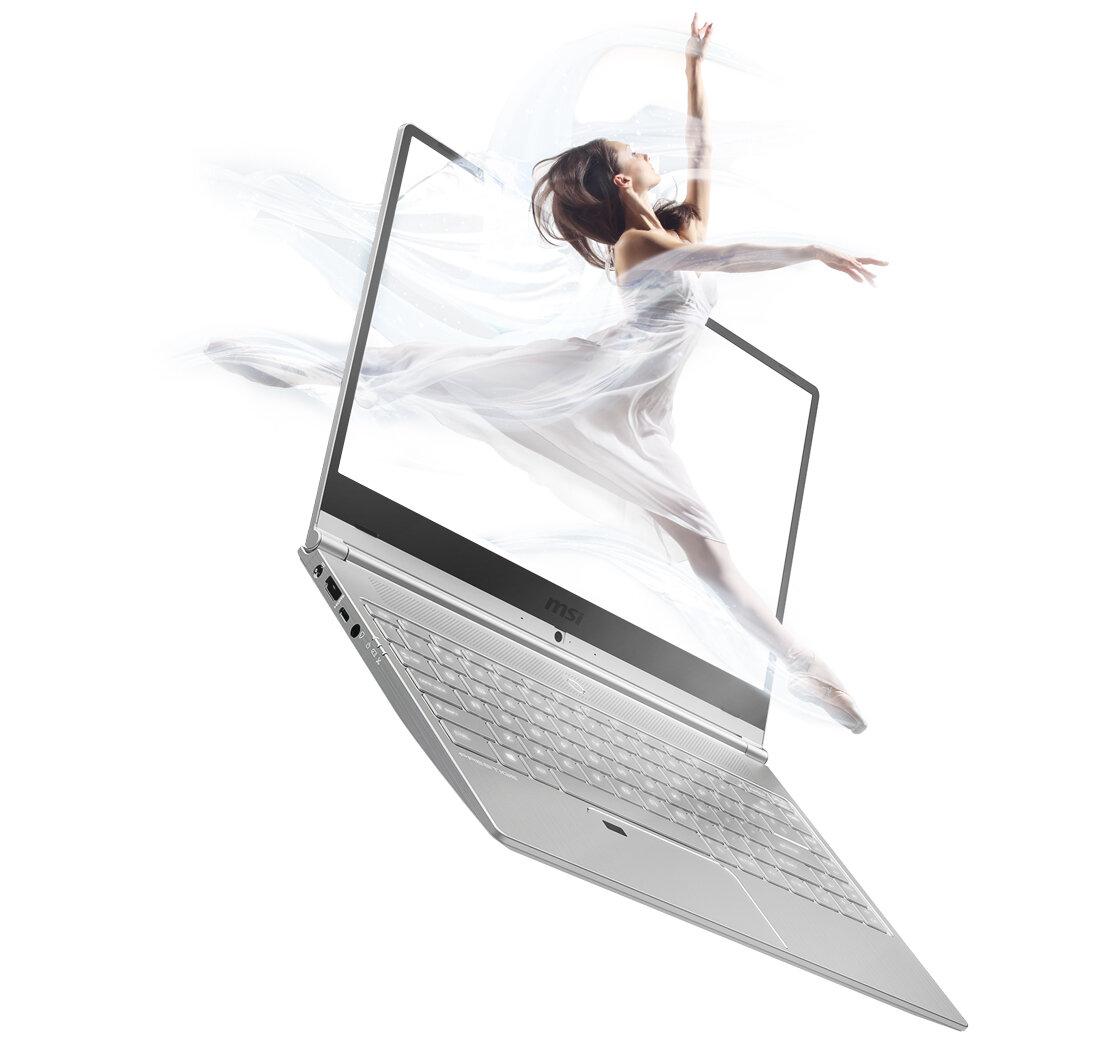 Laptop MSI Prestige PS42 có thể xoay màn hình 180 độ