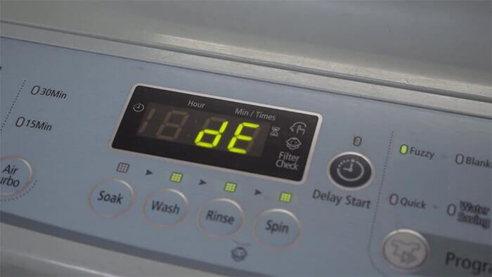 Máy giặt Samsung báo lỗi 4C, DC, DE: Nguyên nhân và cách khắc phục