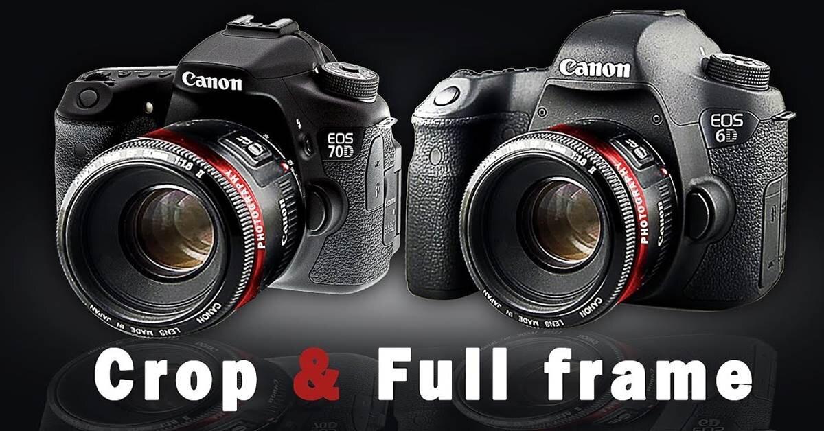 Sự khác biệt giữa máy ảnh DSLR crop và full-frame