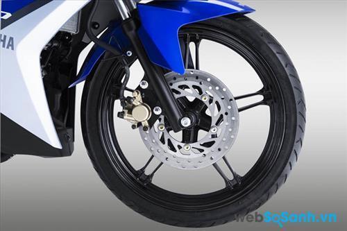 Phanh đĩa được lắp trên cả bánh trước và bánh sau của Yamaha Exciter