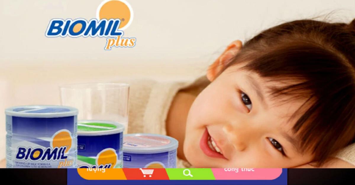 Sữa Biomil chính hãng giá bao nhiêu tiền ?