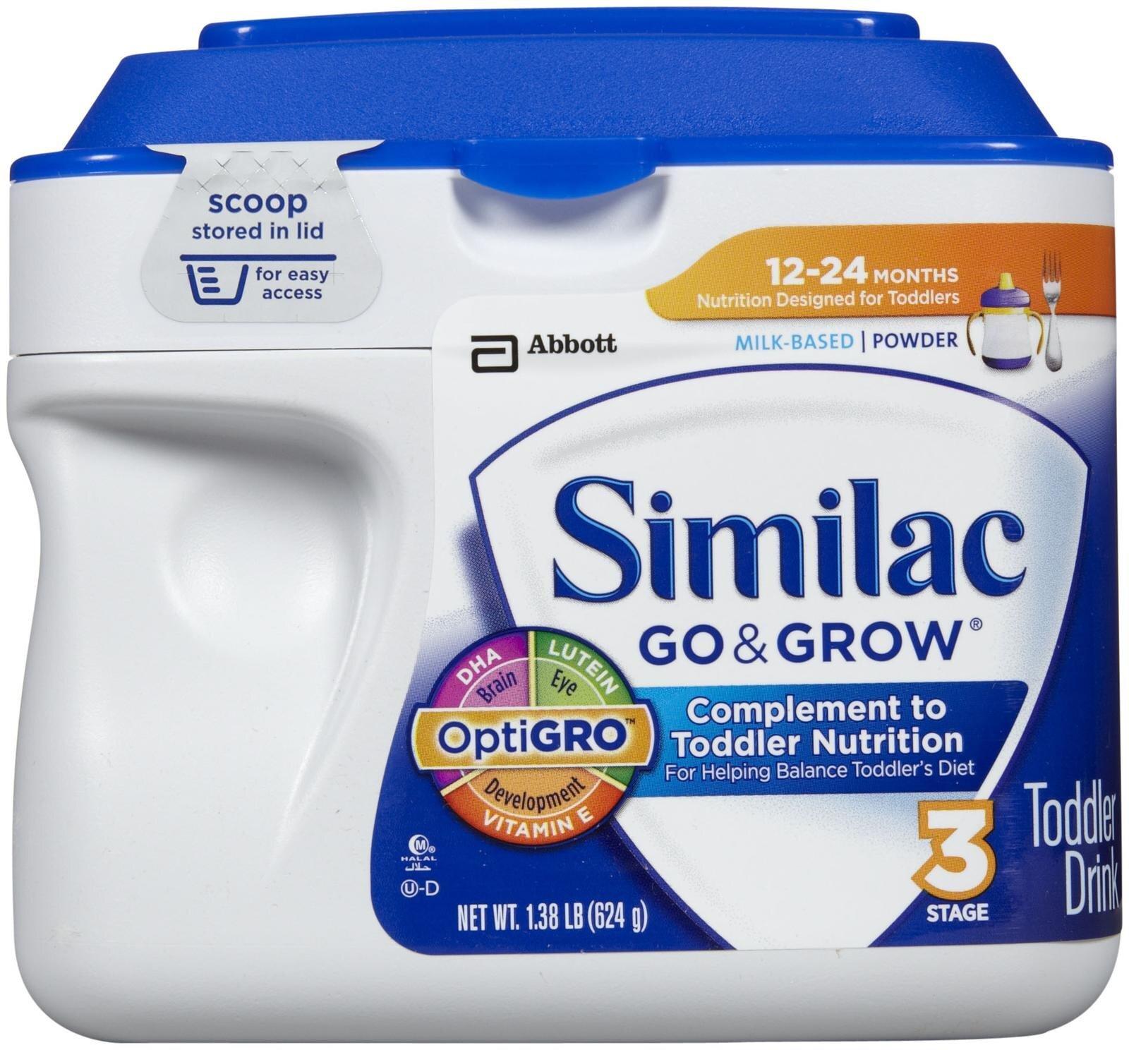 Sữa bột Abbott Similac Go & Grow dinh dưỡng cho bé từ 1 đến 2 tuổi