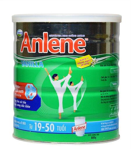 Sữa bột Anlene cho người từ 19 đến 50 tuổi giúp giảm nguy cơ loãng xương
