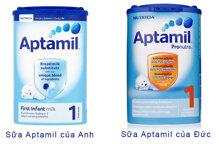 Sữa bột Aptamil của Anh và Aptamil của Đức có gì khác nhau?