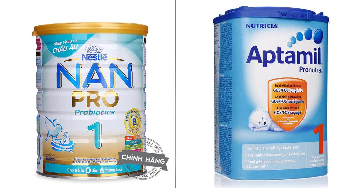 Sữa bột công thức Nan và sữa Aptamil loại nào mát hơn và giúp bé tăng cân tốt hơn ?