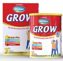 Sữa bột Dielac Grow 3+ hỗ trợ phát triển chiều cao cho bé từ 3 đến 10 tuổi