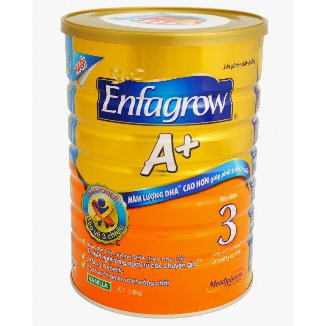 Sữa bột Enfagrow A+ 3 1800g giai đoạn mọc răng không còn lo trẻ biếng ăn.