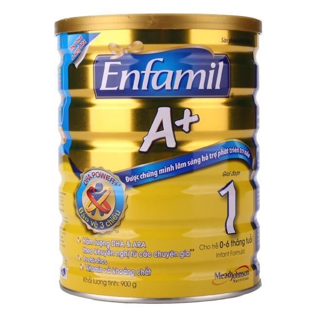 Sữa bột Enfamil A+ 1 dinh dưỡng cho bé từ 0 đến 6 tháng tuổi