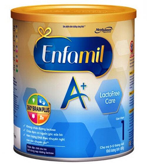 Sữa bột Enfamil A+ Lactofree Care dinh dưỡng cho bé không dung nạp lactose