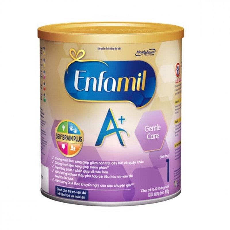 Sữa bột Enfamil Gentle Care A+ 360 Brain Plus giảm khó tiêu, nôn trớ cho bé
