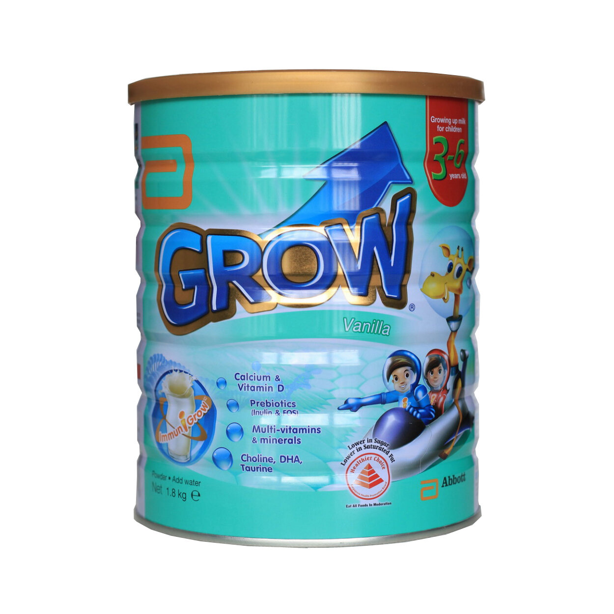 Sữa bột Grow Singapore 1800g ( Trẻ từ 3-7 tuổi)  – Cao hơn – Khỏe hơn – Thông minh hơn