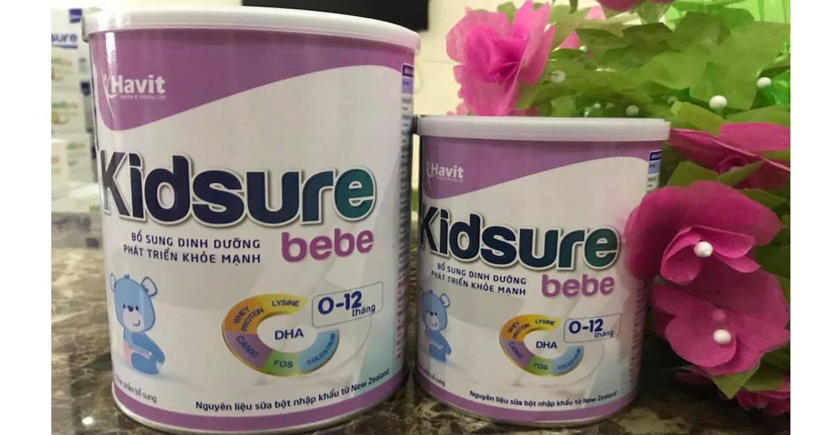 Sữa bột Havit Kidsure có tốt không?có thích hợp cho trẻ biếng ăn không?