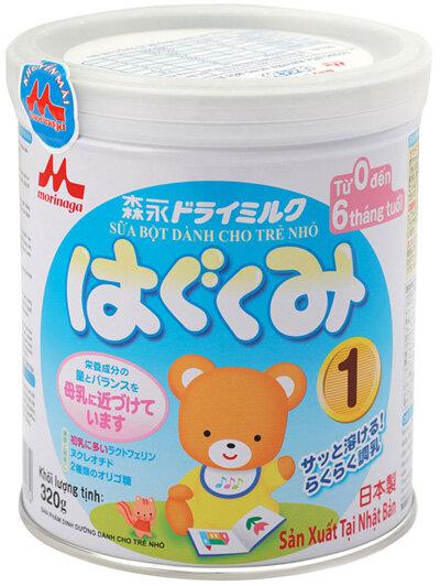 Sữa bột Morinaga Hagukumi số 1 – sữa mát cho bé từ 0 đến 6 tháng tuổi