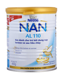 Sữa bột Nan AL110 giải pháp cho trẻ bị tiêu chảy và không dung nạp lactose