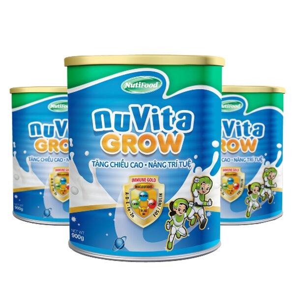 Sữa bột Nutifood NuVita Grow tăng trưởng chiều cao cho bé trên 3 tuổi