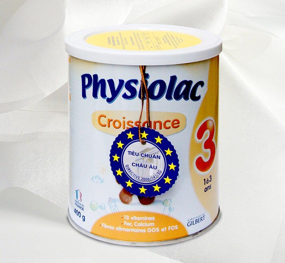 Sữa bột Physiolac số 3 – Không lo bé bị táo bón