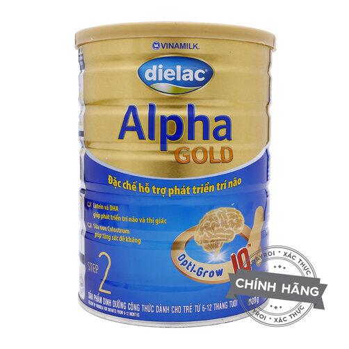 Sữa bột Vinamilk Dielac Alpha Gold step 2 dinh dưỡng cho bé từ 6 đến 12 tháng tuổi