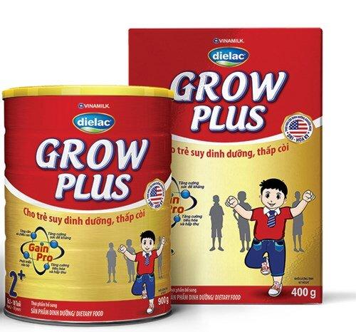 Sữa bột Vinamilk Dielac Grow Plus 2+ dinh dưỡng cho trẻ biếng ăn, thấp còi