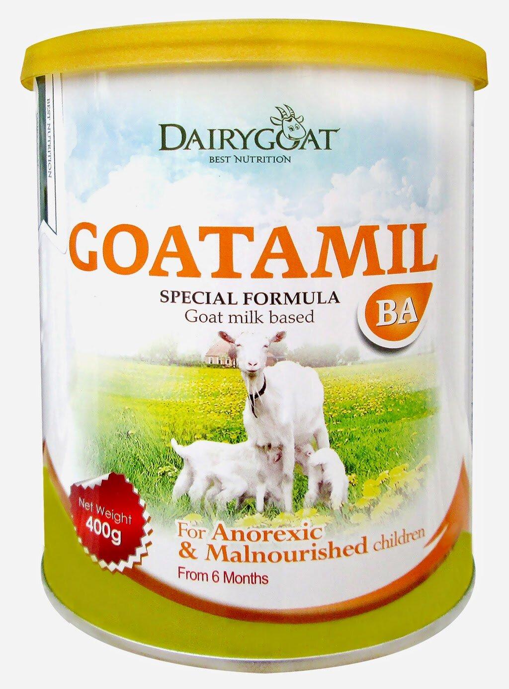 Sữa dê Goatamil BA sữa đặc biệt dành cho trẻ biếng ăn, suy dinh dưỡng