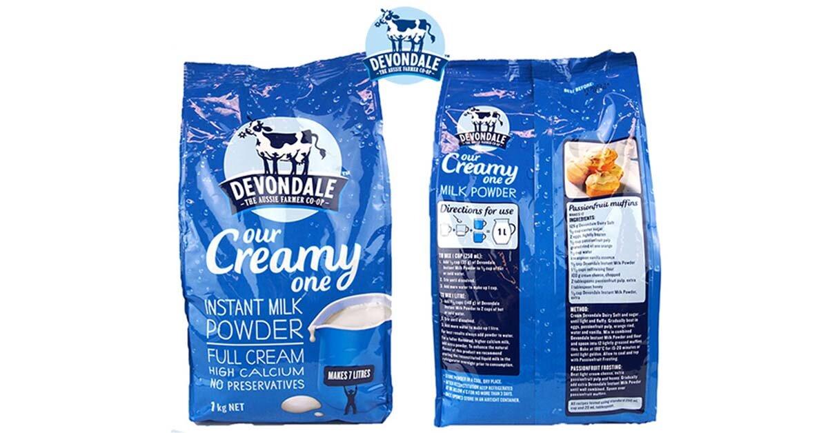 Sữa Devondale nhập khẩu từ Úc tăng cân tốt không?