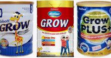 Sữa grow có mấy loại ? Ưu điểm nổi trội của mỗi loại sữa grow trên thị trường ?