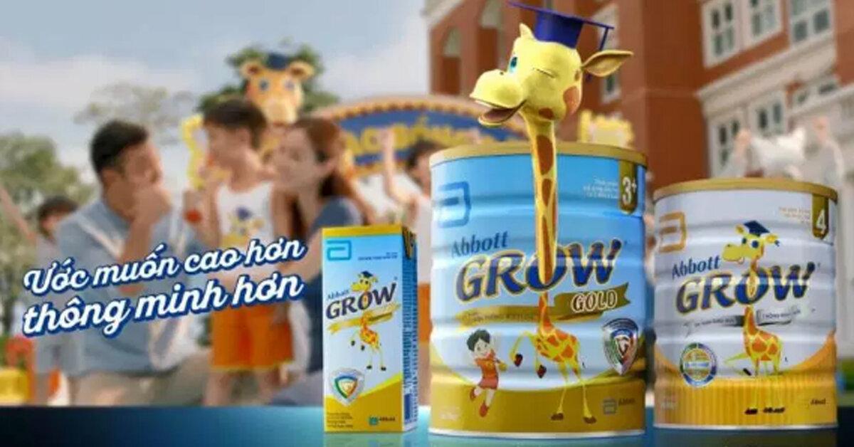 Sữa grow hươu cao cổ giúp con cao lớn và tăng cân đều đặn