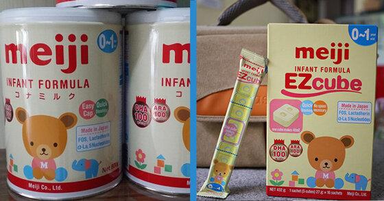 Sữa Meiji dạng thanh và dạng bột có khác nhau gì không ?