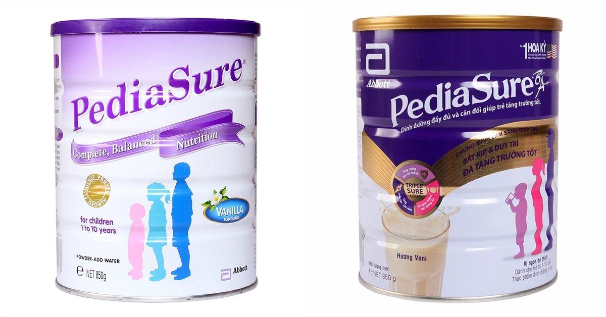 Sữa Pediasure Mỹ và Úc có gì khác nhau?
